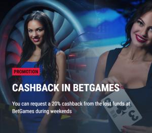 Parimatch cashback in betgames